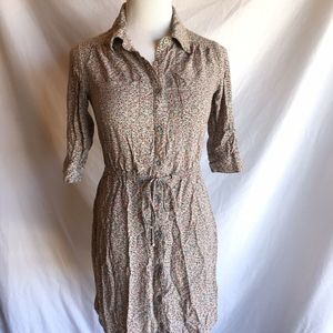 Willow and Clay Button Front Floral Dress Womens